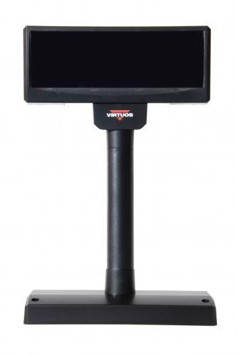 VFD displej zákaznický FV-2029M, 2x20 znaků 9mm, RS232, napájení z PC, černý