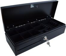 Pokladní zásuvka flip-top FT-460V1-RJ10P10C, bez kabelu, bez zam. krytu, černá