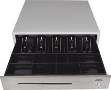 Pokladní zásuvka C430B-RJ10P10C, bez kabelu, kov. držáky, nerez panel, béžová