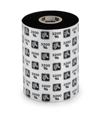 TTR barvící páska ZEBRA 64mm x 74m, vosk, černá