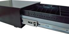 Pokladní zásuvka SK-325-RJ10P10C, 9-24V, bez kabelu, pořadač 6/8, černá