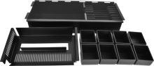 Pokladní zásuvka SK-500B-RJ10P10C, 9-24V, bez kabelu, pořadač s vým. mincovníky 8/8, černá