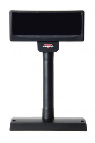 VFD displej zákaznický FV-2029M, 2x20 znaků 9mm, USB, napájení z PC, černý