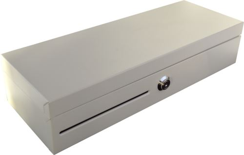 Pokladní zásuvka flip-top FT-460V4-RJ10P10C, bez kabelu, se zam. krytem, bílá